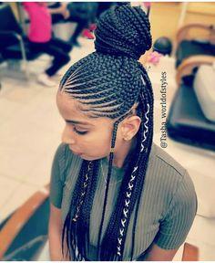 85 Box Braids Hairstyles for Black Women - Hairstyles Trends Box Braids Hairstyles, My Hairstyle, African Hairstyles, Black Women Hairstyles, Girl Hairstyles, Female Hairstyles, Hairstyles Pictures, Hairstyles 2016, Hair Updo