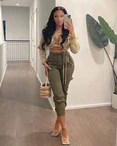 Baddie Outfits Casual, Cute Swag Outfits, Cute Casual Outfits, Stylish Outfits, Girl Outfits, Teen Fashion Outfits, Black Girl Fashion, Look Fashion, Mode Hipster