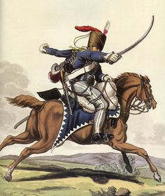 7th Queen's Own Light Dragoons (Hussars): Battle of Waterloo 18th June 1815: picture by Charles Hamilton Smith: buy this picture