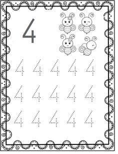 Free Kindergarten Worksheets, Kindergarten Learning, Preschool Learning Activities, Worksheets For Kids, Preschool Activities, Learning English For Kids, Learning Numbers, Math For Kids, Decor Inspiration