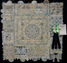 Aki Sakai's, Blue Tone.  Aki's quilt won the Coats  Clark Best Wall Hand Workmanship award at AQS QuiltWeek Paducah 2014.
