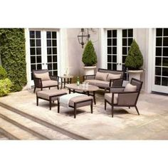 brown jordan highland patio sofa with cinnabar cushions and empire chili throw pillows stock jordans home and chili