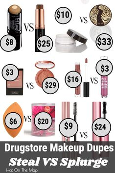 The best make up dupes every girl needs in her makeup collection. Save some money on your makeup purchases with these simple changes. #makeupdupes #makeupdupesdrugstore #makeupdupes2018 #makeupdupesfoundation #bestmakeupdupes #makeupideas