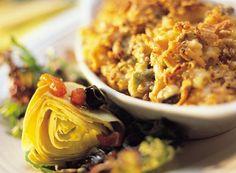 Salmon Pasta Casserole With Artichoke Salad from Publix Aprons
