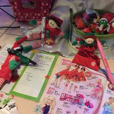 The Elves making their wish list for Santa