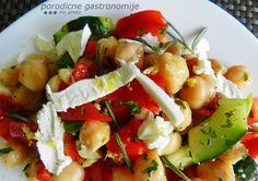 chickpea salad with feta cheese www.porodicnegastronomije.com