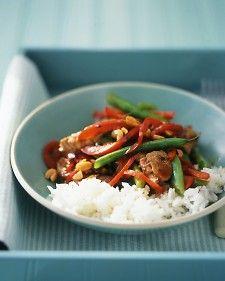 Pork & green bean stir fry