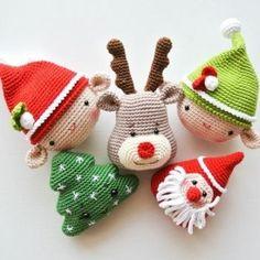 Mesmerizing Crochet an Amigurumi Rabbit Ideas. Lovely Crochet an Amigurumi Rabbit Ideas. Crochet Christmas Decorations, Crochet Decoration, Crochet Ornaments, Christmas Crochet Patterns, Holiday Crochet, Christmas Crafts, Crochet Snowflakes, Crochet Amigurumi, Amigurumi Patterns