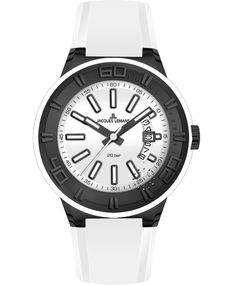 Jacques LEMANS Miami Sport White Silicon Strap Η τιμή μας: 125€ http://www.oroloi.gr/product_info.php?products_id=34790