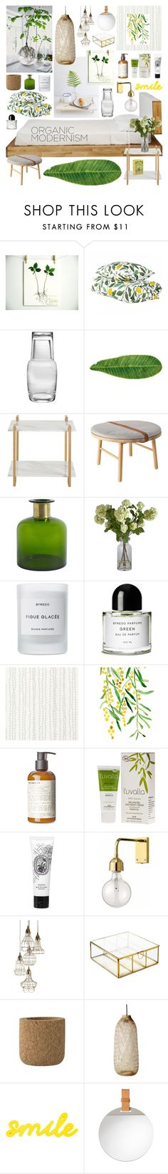 """""""Organic Modernism"""" by ladomna ❤ liked on Polyvore featuring interior, interiors, interior design, home, home decor, interior decorating, Qualia, Abyss & Habidecor, Arteriors and Bloomingville"""