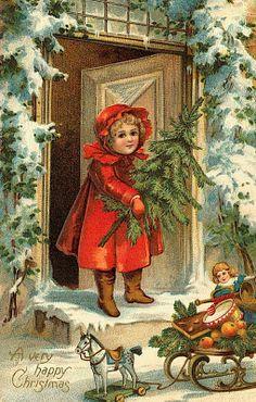 Elfriede t 252 rr vintage christmas postcard christmas pictures