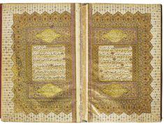 A fine illuminated Qur'an, copied by Suleyman al-Uskudari, Turkey, Ottoman, dated 1087 AH/1676 AD