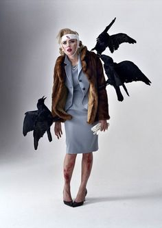 Scarlett Johansson as Tippi Hedren by Tim Walker.