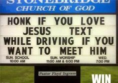 Anti-Texting | Phoning Campaign (don't text and drive) | Churches have a say on texting and driving, too. And it's awesome