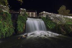 Waterfall at springs of Agia Varvara, Drama, Greece