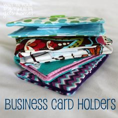 Handmade Business Card Holders @ Wait Til Your Father Gets Home, perfect to take to a blog conference or to keep in your purse #businesscards #handmade #businesscardholder