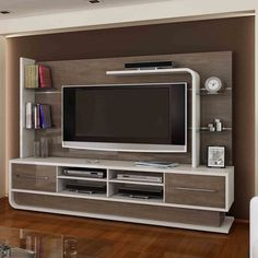 Latest 40 Modern tv wall units - TV cabinet designs for living rooms 2019 Tv Unit Decor, Tv Wall Decor, Tv Cabinet Design, Tv Wall Design, Design Design, Home Para Tv, Armoire Tv, Modern Tv Wall Units, Tv Unit Furniture