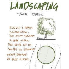 You must protect the root system on landscaping during construction. Architecture Concept Drawings, Architecture Diagrams, Sustainable Architecture, Landscape Architecture, Landscape Design, Architecture Design, Site Plan Design, Green Houses, Root System