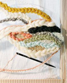 WIP large weaving wall hanging    Melissa Jenkins Designs