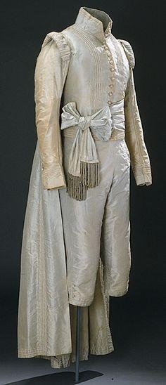 Johan Gabriel Oxenstierna gave this blue court suit to Gustaf Göran Gabrielsson Oxenstierna in 1790's.