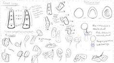 MLP - Basic Anatomy Study 3 - Hind Legs by DShou on deviantART