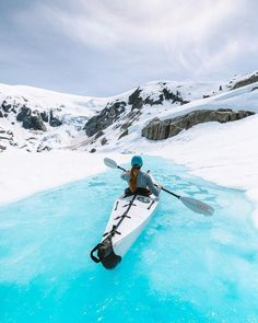 Glacier kayaking in Canada's Coast Mountains