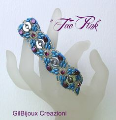 Bracciale Tae Pink fatto a mano turchese con by GilBijoux on Etsy