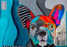 #wojciechbrewka #art #popart #tattoo #animals #dog #franchbulldog #graffiti #streetart