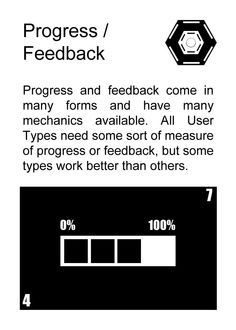 Progress / Feedback