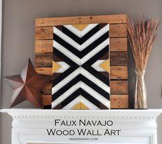 DIY Navajo Patterned Wall Art