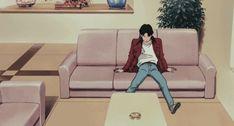 gif, studio ghibli, and retro anime image Old Anime, Anime Art, Anime Guys, Aesthetic Boy, Aesthetic Anime, Gifs, Boy Gif, Gif Animé, Animated Gif