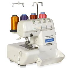 Launch your new clothing business using this DreamStitcher Serger sewing machine. Portable and with 2/3/4 thread flexibility, this sewing machine makes an ideal choice for creating your personal wardr