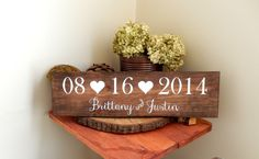 Wedding Date Sign Wedding Name Sign Save the Date Prop Wedding Photo Prop Bridal Shower Gift  Rustic Wedding Woodland Wedding Outdoor by NaturalDesignsByRio on Etsy https://www.etsy.com/listing/219703741/wedding-date-sign-wedding-name-sign-save