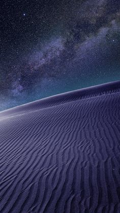 purple desert night