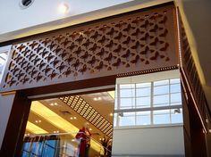 Detalhes para o cobogó frontal e interno da loja @propemixdamoda @nacoesshopping #elite #cortes #design