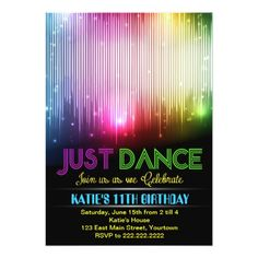 83 best dance ballet party invitations images on pinterest disco just dance party invitation stopboris Gallery