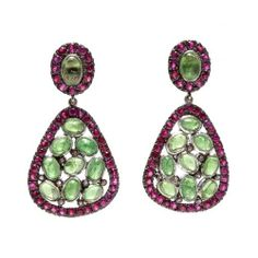 Ruby Tourmaline Gemstone 925 Sterling Silver Dangle Earrings Mother Day Gift | eBay