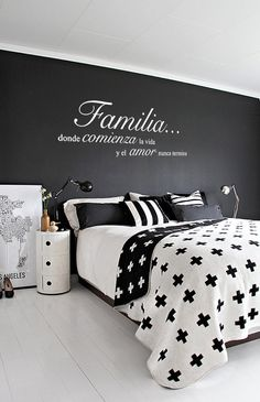 This Familia Donde Comienza la Vida y el Amor Nunca Termina Wall Vinyl Decal Spanish Quote is just one of the custom, handmade pieces you'll find in our quotations shops. Black Bedroom Design, Master Bedroom Design, Vinyl Wall Decals, Bed Pillows, Pillow Cases, Bedroom Decor, Bedroom Ideas, Furniture, Home Decor
