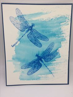 Butterfly Cards, Flower Cards, Bee Cards, Dragonfly Art, Cool Cards, Easy Cards, Stamping Up Cards, Animal Cards, Pretty Cards