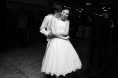 A documentary photograph of a bride and groom having a first dance during their laid back wedding in Boston, Massachusetts Gina Brocker Photography Laid Back Wedding, First Dance, Documentaries, Groom, Wedding Photography, Boston Massachusetts, Bride, Beautiful, Dresses