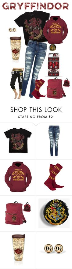 """""""Gryffindor Everyday Cosplay"""" by unicornprincez ❤ liked on Polyvore featuring Current/Elliott and Tervis"""