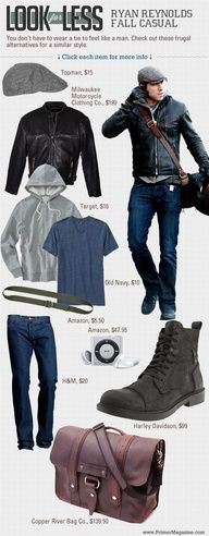 Look for Less: Ryan Reynolds Fall Casual