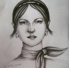 Illustration - Monike Meurer.  #drawing #drawingrealistic #girl #fashionIllustrator #illustration #vintage #art