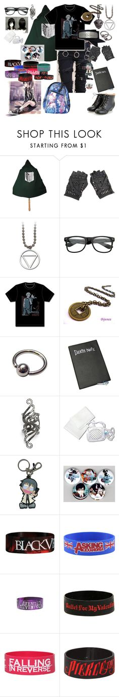 """""""When Different Fandoms Collide"""" by rukiakuchiki12341 ❤ liked on Polyvore featuring Skingraft, Retrò, Gaydamak and Hot Topic"""