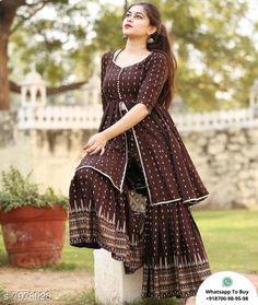 New Stock DM to buy 1299Free Delivery COD/Returns/Available Delivery 6-8 days Best Quality Only Latest Dress Design, Sharara Designs, Kurta Cotton, Printed Kurti, Designer Gowns, Blouse Patterns, Buy Dress, Casual Wear, Nice Dresses