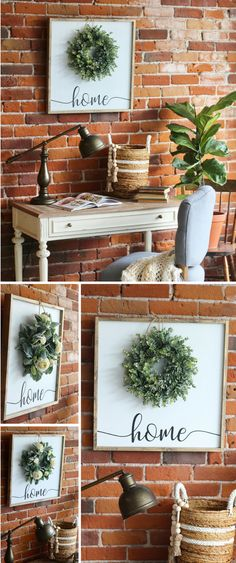 This could TOTALLY be a #diydecor project!!! :) But I do love this shop's gorgeous wreath / home wall sign! How cute & unique!! I think the #boxwoodwreath & #lambsearwreath are my absolute favorite!!! #farmhousedecor #walldecor #diyfarmhousesign #farmhousesign #rustichomedecor #affiliate