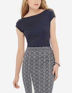 Luxe Inset Ponte Top