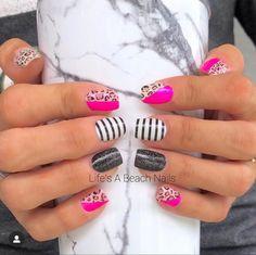 Striped Nails, Retro Pop, Nail Polish Strips, Color Street Nails, Cut And Color, Nails Inspiration, Fun Nails, Girly Things, Rainbow Colors