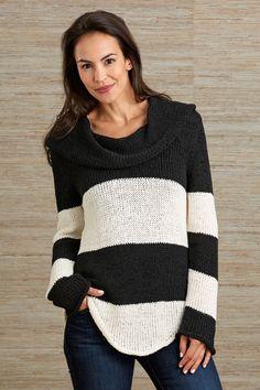 Pure Handknit Fair Trade Statement Cowl Neck Sweater