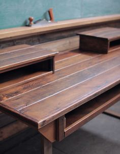 Rustic Reclaimed Audio Video Production Desk for Music + Film + Graphic Design + Creative Office on Etsy, $1,800.00